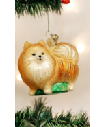 OLD WORLD CHRISTMAS POMERANIAN DOG GLASS CHRISTMAS ORNAMENT 12346 A - $12.88