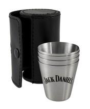 Jack Daniel's Metal Shot Glass Travel Set of 4 Plus Leather Case - ₹2,078.26 INR