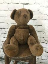 """Russ Teddy Bear Heavy Beanie Pose-able Limbs Dark Brown 16"""" - $14.84"""