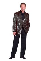 Gents 2017 style Sequinned Cabaret Jackets - Black - $73.01