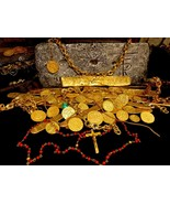1715 FLEET GOLD & CORAL ROSARY w/ CRUCIFIX PIRATE TREASURE MEL FISHER AT... - $75,000.00