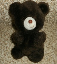 "8"" VINTAGE RUSS BERRIE WEMBLY DARK BROWN TEDDY BEAR STUFFED ANIMAL PLUSH... - $28.05"