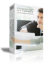 Power Of Attorney Instant Mobile Video Site W Master Resell Rights - $1.89