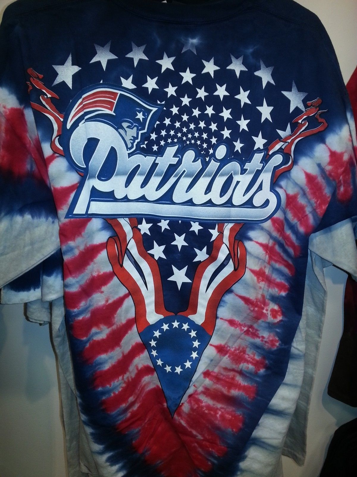NEW ENGLAND PATRIOTS  NEW  Tie Dye V Dye T-Shirt image 2