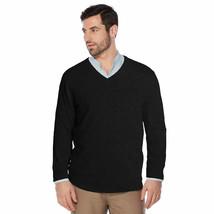 Berlioni Italy Men's Premium Slim Fit Microfiber V-Neck Dress Pullover Sweater image 2