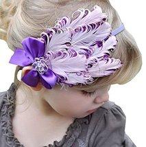 Beautiful Baby Girl Headband Cute Feather Apparel Accessory Purple (1~4Y)