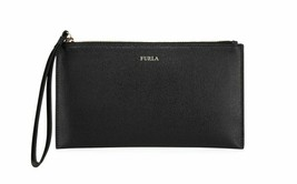 Furla Italia XL Saffiano Leather Wristlet Clutch Bag Black - $78.21