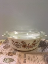 Vintage JAJ Pyrex Casserole Dish // Country Autumn // English Pyrex - $11.00