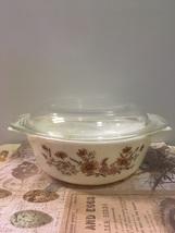 Vintage JAJ Pyrex Casserole Dish // Country Autumn // English Pyrex - $11.00