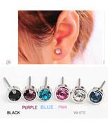 Valentine's Day, ES0003 Cute Little Simple Crystal Stud Earrings STRING - $1.99