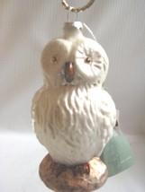 Snow Owl   White  Mercury Glass Ornaments Bethany Lowe - $11.83