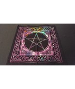 "18"" x 18"" PENTACLE STAR Hippie Tie Dye Cotton Cloth HENNA ARTIST TOTE BA... - £8.80 GBP"