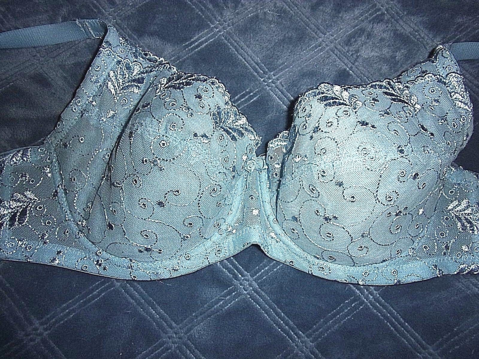 888cd23fd8e15 57. 57. Previous. 40C Q-T Intimates Embroidered Light Padded Underwire Full  Coverage Bra
