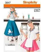 Simplicity 3847 Women Retro 50s Poodle Skirt Costume Pattern - $9.95