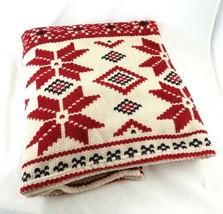 LRL Lauren Ralph Lauren Christmas Holiday Snowflake Throw Blanket Couch Bed - $34.54
