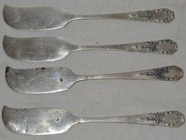 Gorham Madam Jumel 1908 Sterling Silver Flat Butter Knife Set of 4 - $84.14