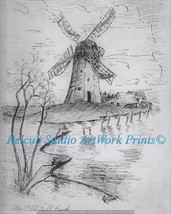 "RARE ""The Old Mill Pond"" Chicago Artist Signed ... - $7.99"