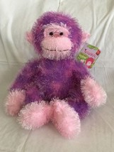 Russ Berrie Purple Monkey Trembles Plush Stuffed Animal - Makes Sound - $24.74