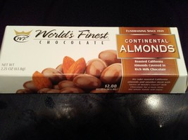 WORLD'S FINEST CHOCOLATE Continental Almonds Covered in Milk Chocolate 3... - $5.99
