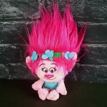 "Dreamworks Trolls Poppy Plush Doll 8"" Bag Clip Pink Hair Backpack Stuffed Animal - $11.87"