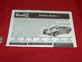 2004 Revell Kit 2534 Shelby 1/25 Séries 1 Compétence 2 OEM Rechange Directions - $12.07