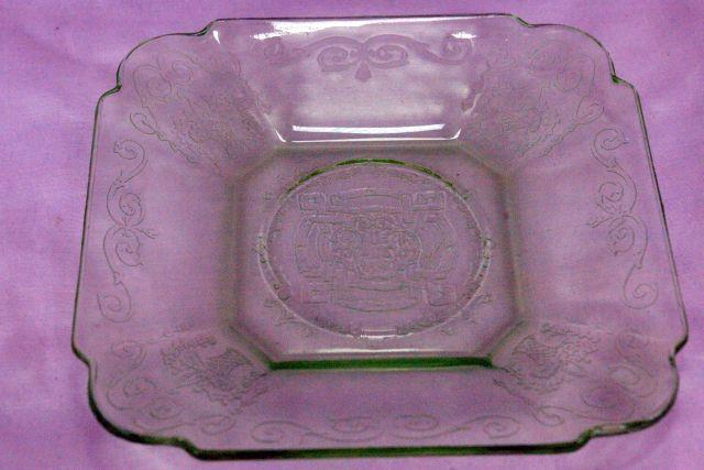 Indiana Glass 1932 Lorain Green Cup And Saucer Set