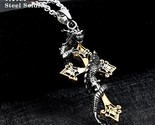 Soldier drop shipping cross dragon pendant necklace stainless steel 3d men jewelry thumb155 crop