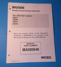 Woods Parallel Circuit Control Valve Kits For 1020 1027 Loaders Manual - $14.99