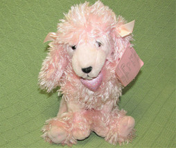 GUND PINK FRENCH POODLE + TAG STUFFED ANIMAL BIBLE QUOTE LOVE ONE ANOTHE... - $24.75