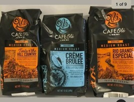 3 Bags Cafe Ole Coffee By HEB 12 oz Creme Brûlée, Rio Grande, Taste Of Hill Ctry - $49.47