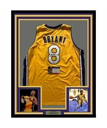 FRAMED Autographed/Signed KOBE BRYANT 33x42 Los Angeles LA Yellow Jersey... - $849.99