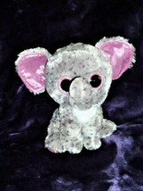 "Ty Beanie Boos Specks the Elephant Gray Pink Lg 9"" March 8 Birthday Retired - $9.89"