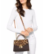NWT Michael Kors Sloan Medium Top-Handle Calf Hair Satchel Bag $328 - $197.00