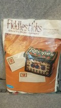 Fiddlesticks by Current Needlepoint  RECIPE BOX And CARD HOLDER Unopened... - $9.49