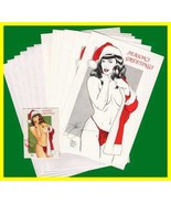 Steve Woron's 1990 Bettie Page Christmas Cards SET #1 SIGNED Scarce - $15.79