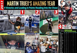 MARTIN TRUEX'S AMAZING 2017 - 4 WINS & CUP LEADERSHIP - COMMEMORATIVE PO... - $19.75