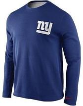 Nike New York Giants Men's Long Sleeve Thermal Crew T-Shirt Top Blue MEDIUM NEW - $75.00