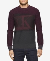 Calvin Klein Jeans, Men's, Colorblocked Graphic-Print Logo Sweater, Brow... - $39.35