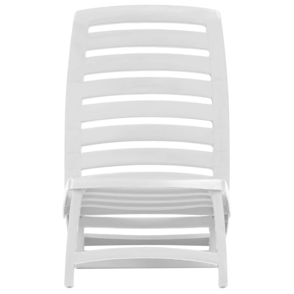 vidaXL 4x Folding Beach Chairs Plastic Beach Seat Outdoor Chair Multi Colors image 3
