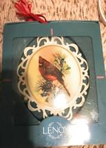 Lenox Winter Greetings Cameo Christmas Ornament NIB &ready for the holiday - $19.79
