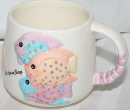 Shedd Aquarium Chicago Coffee Cup Mug Hot Chocolate Raised Fish Cute - $14.95