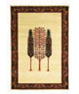 """100% Hand Knotted 4'6""""x6'6"""" Tribal Gabbeh Cypress Tree Wool Area Rugs Ca... - $593.26"""