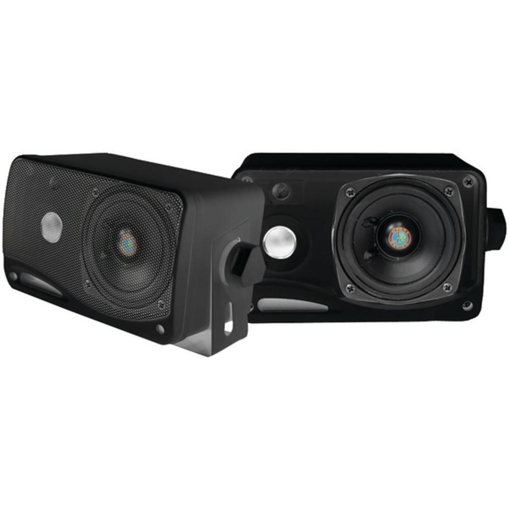 Pyle PLMR24B Hydra Series 3.5 200-Watt 3-Way Weatherproof Mini-Box Speaker Syste