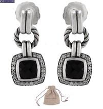 David Yurman 925 Sterling Silver Black Onyx Diamond Albion Dangle Earrings - $1,299.99