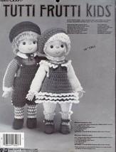 "Tutti Frutti Kids Fibre Craft Crochet 14"" Doll PATTERN Leaflet Rare - $4.47"