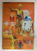 Star Wars R2-D2 3-CPO Wall Metal Sign plate Home decor 11.75