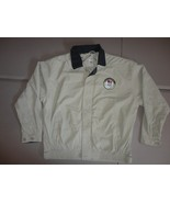 Khaki Tan Official USA Olympic Commitee 6th Sixth Ring Jacket Men L Very... - $32.17