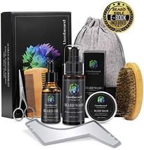 Lionbeard Beard Growth Grooming & Trimming Kit for Men Dad Beard Care - Beard Sh image 1