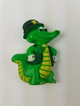 Vintage 1984 Hallmark St Patrick's Day Pin Green Crocodile Alligator Rep... - $9.85
