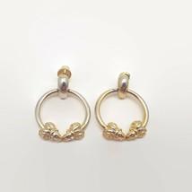 Vintage Mimi Di N 1980 Gold Tone Door Knocker Earrings  - $21.34